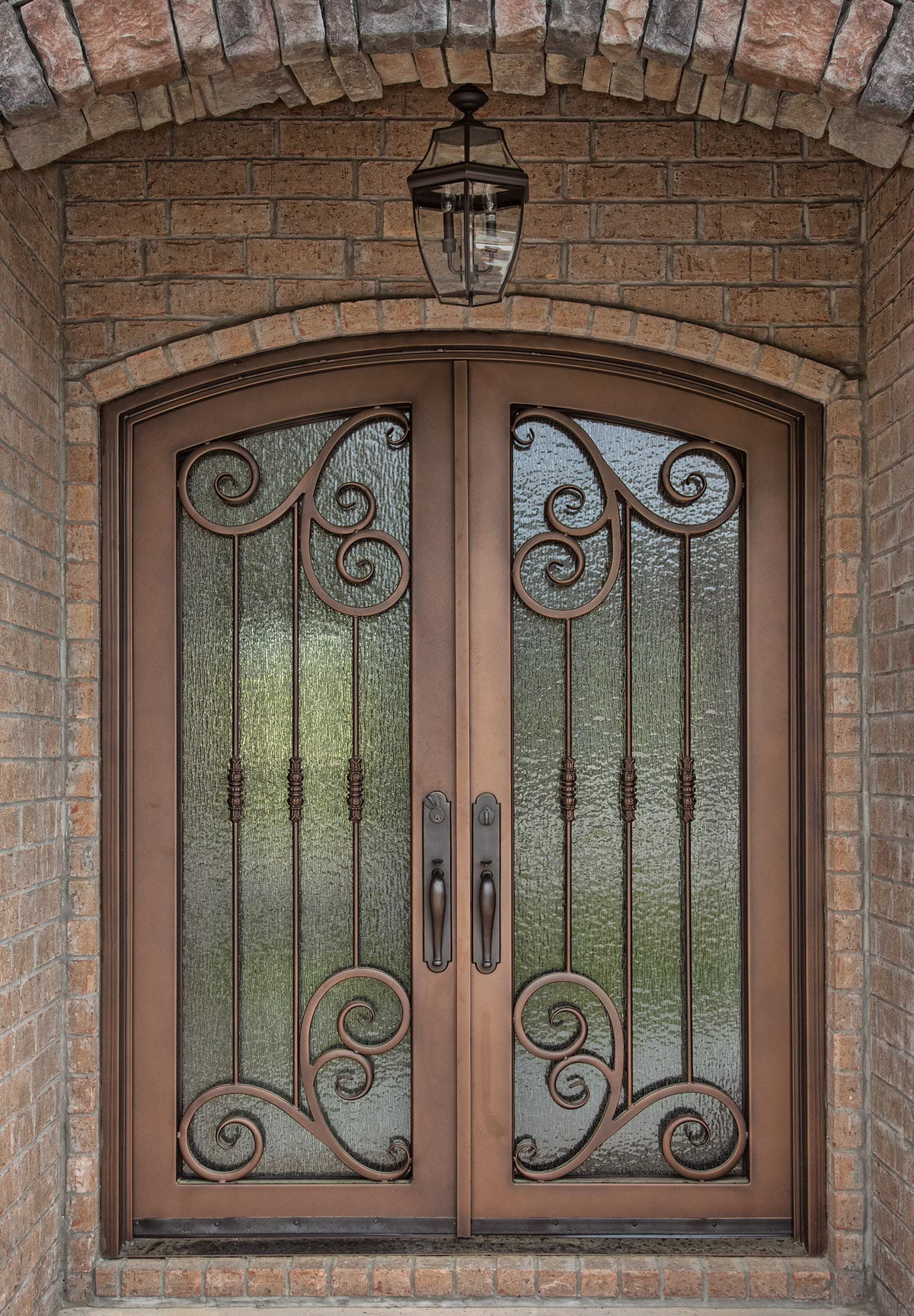 Id2 iron entry door iron crafters llc for Metal entry doors