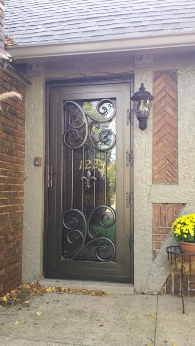 Looking for a new storm door  Try our custom made storm security doors  Not  only are they beautiful but they provide security and ventilation too. Iron Crafters  LLC   Louisville Iron Doors  Balusters and Windows